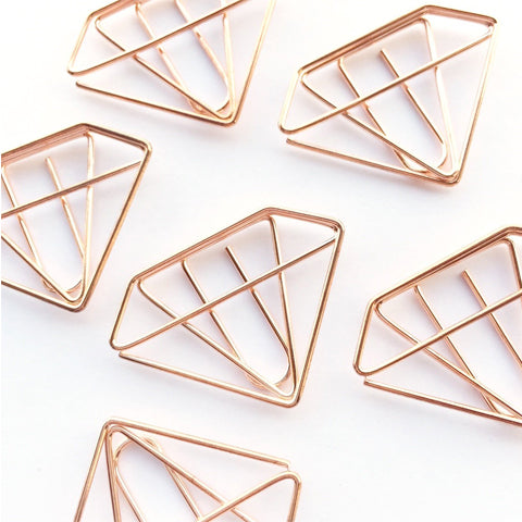 Diamond Paper Clips Rose Gold