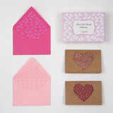 Laser Cut Hearts Notecards