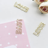 LOVE Paper Clips | Gold | Set of 8