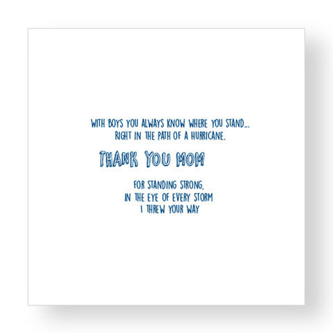 Thank You Mom… Greeting Card
