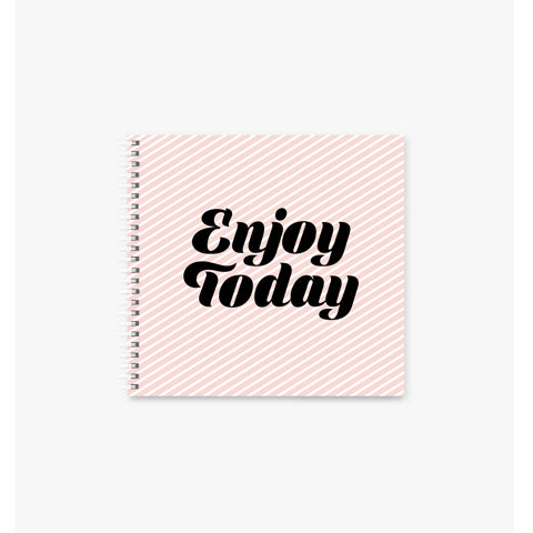 Enjoy Today square Spiral Notebook