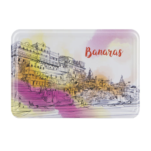 Banaras Darshan Metal Postcard