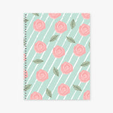 Botanical Roses Spiral Bound Soft Cover Notebook