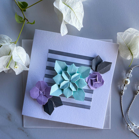 Bloom Blue Handmade Greeting Card