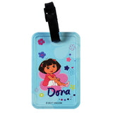 Pink Flower Dora the Explorer Luggage Tag