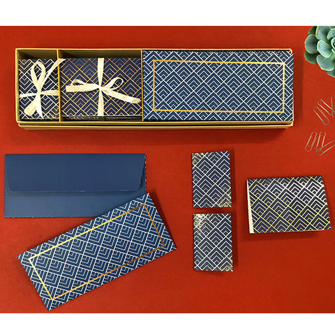 Geometric Print Stationery Set