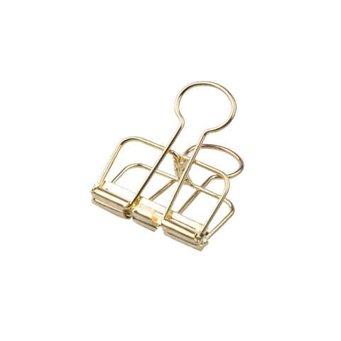Supple Room Gold Hollow Metal Paper Binder Clips Large