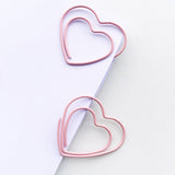 Lovely Pink Heart Paper Clips | Set of 8