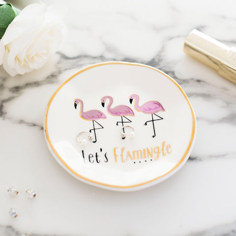 Trinket Tray- Flamingo