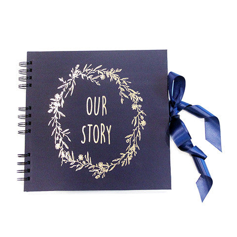 Our story Scrapbook Navy