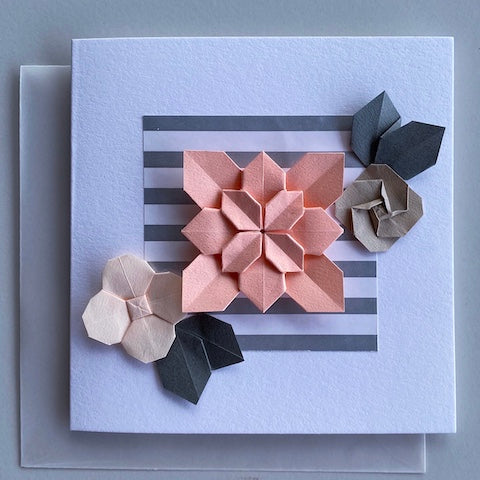 Bloom Peach Handmade Greeting Card