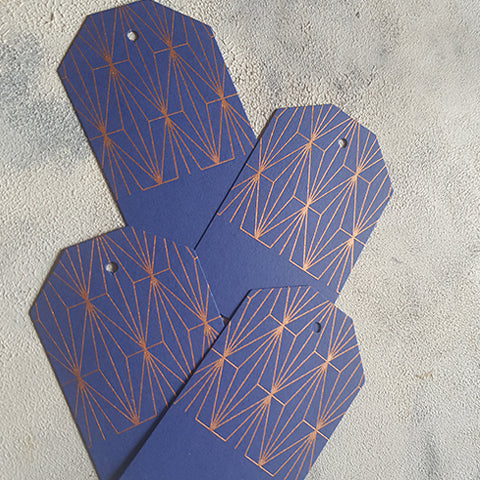 Blue Geometric Gift Tags