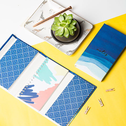 Magnetic Notebook - Waves Print
