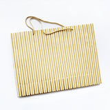 Gold Stripes Gift Bag