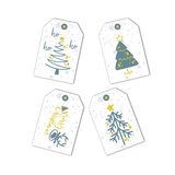 Merry Christmas Greeting Card and Gift Tags Set