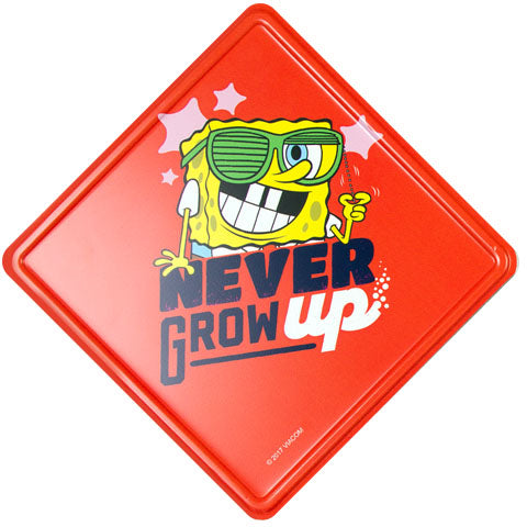 Never Grow Up (Spongebob Squarepants) Metal Door Sign