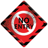 No Entry Metal Door Sign
