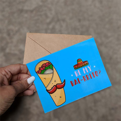 Baeritto Greeting card