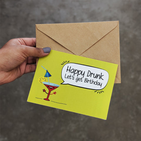Happy Drunk Greeting Card