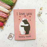 Beary much Greeting Card