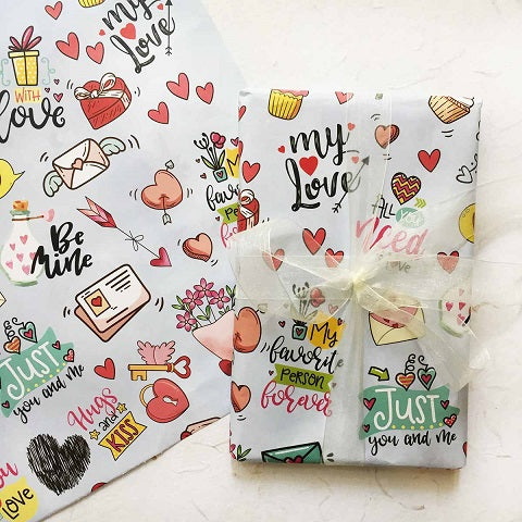 Sticker Theme Wrapping Paper