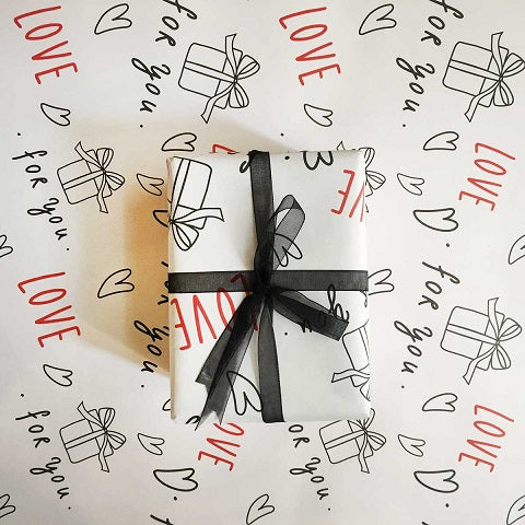 Red Love Gift Wrap