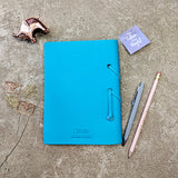 Teal Leather Diary
