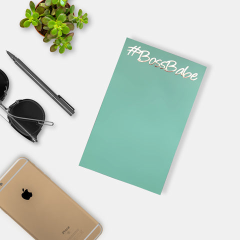 Boss Babe Notepad- Green