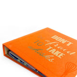 Recipe Journal- Don't be afraid to take whisks - ORANGE