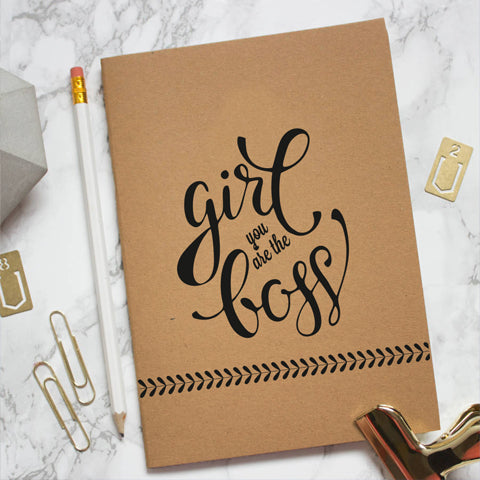 Girl Boss Kraft Notebook