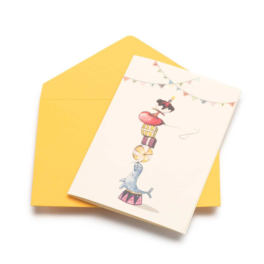 Circus Act Greeting Card