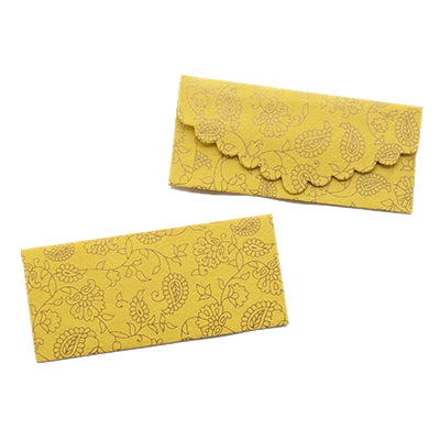 Paisley Paradise Yellow Money Envelope