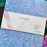 Blue Hand Marbled Diary