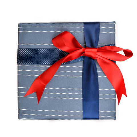 Blue Gift Wrapping Paper - Beyond Dotted lines