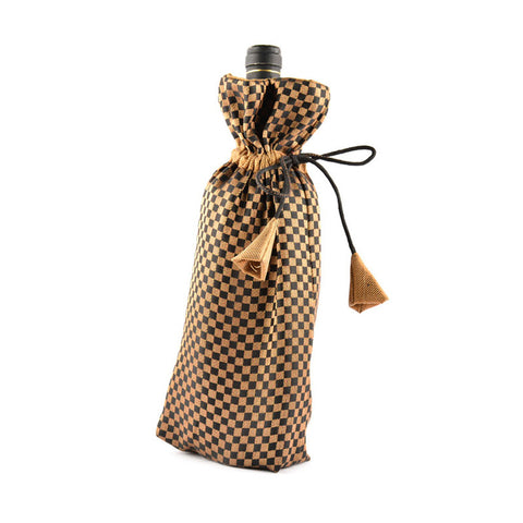 Gold & Black Bottle bag - Festive Splendour