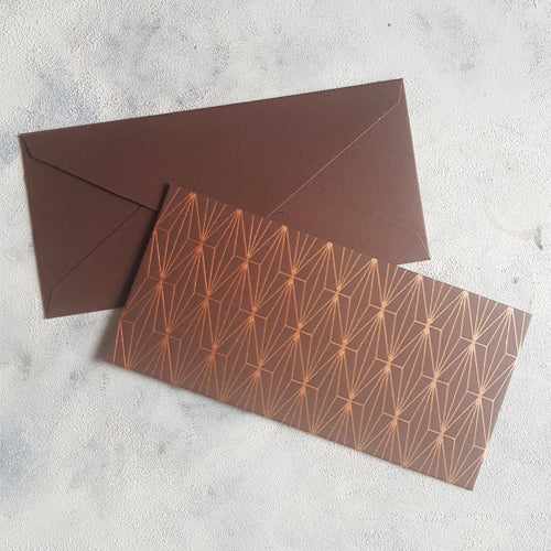 Brown Geometric Money Envelope