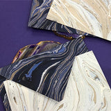 Hand Marbled Notecard