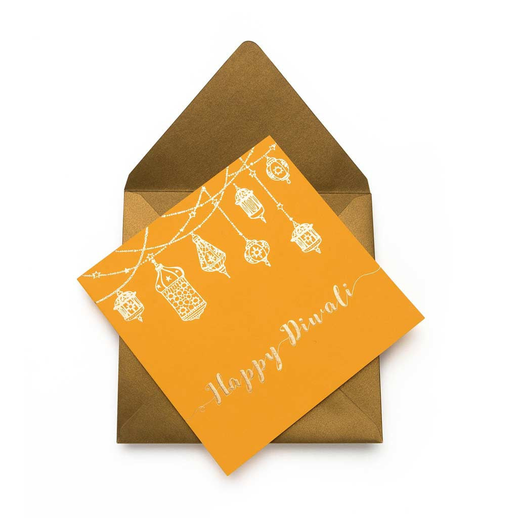 Light It Up Yellow Greeting Card