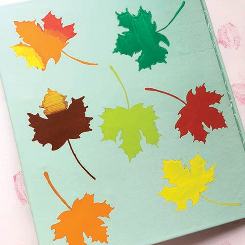 Maple Leaves Hand Painted Folder