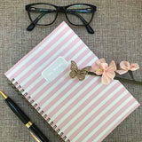 Pink and white stripe Day Designer