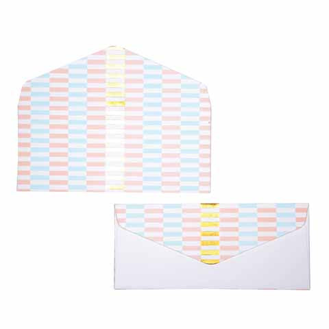 Pastel gold Bricks Money envelopes