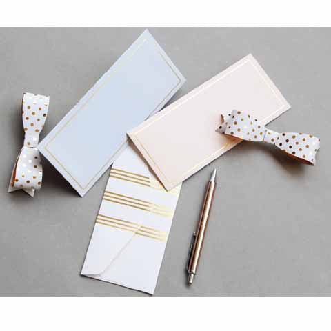 Pink and gold lines Money envelopes