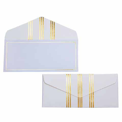 Blue and Gold Lines Money envelopes