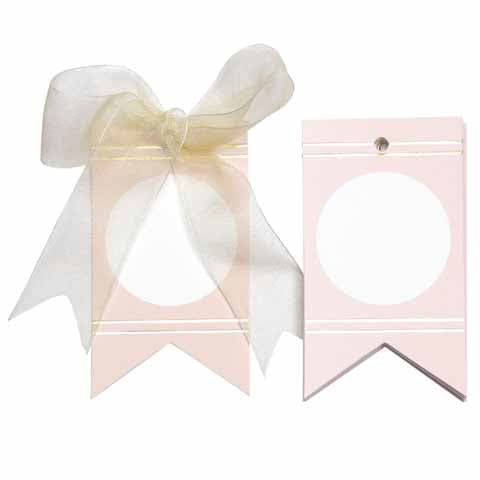 Circles and Lines pink Gift Tags