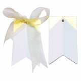 Gilded triangle Blue Gift Tags
