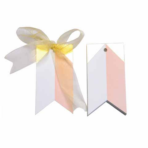 Gilded triangle Pink Gift Tags