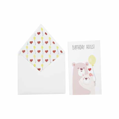 Birthday Hugs Greeting Card