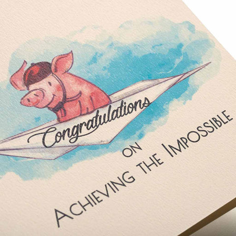 Pigs Are Flying Greeting Card