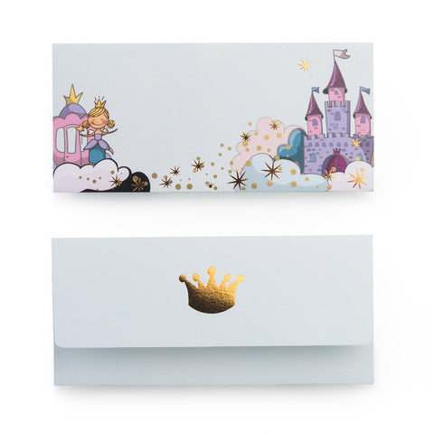 Get this Princess themed money envelope set online from The Papier Project.