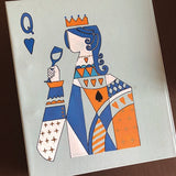 Queen of Hearts Hand Painted Folder